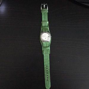 Green Fossil Watch